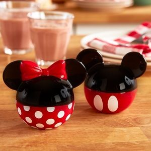 Mickey and Minnie Ceramic Salt and Pepper Shakers